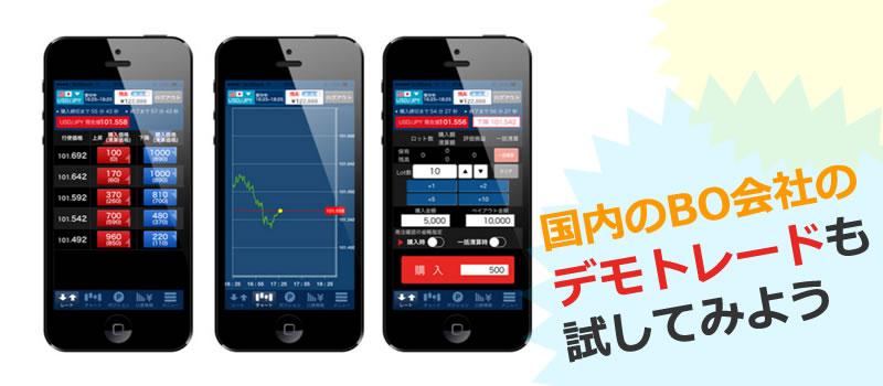 日本国内のバイナリーオプションのサービスでデモトレードを試したい方へ