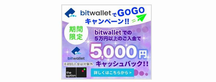 bitwalletでGOGOキャンペーン