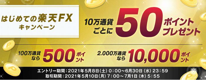 楽天FXのキャンペーン